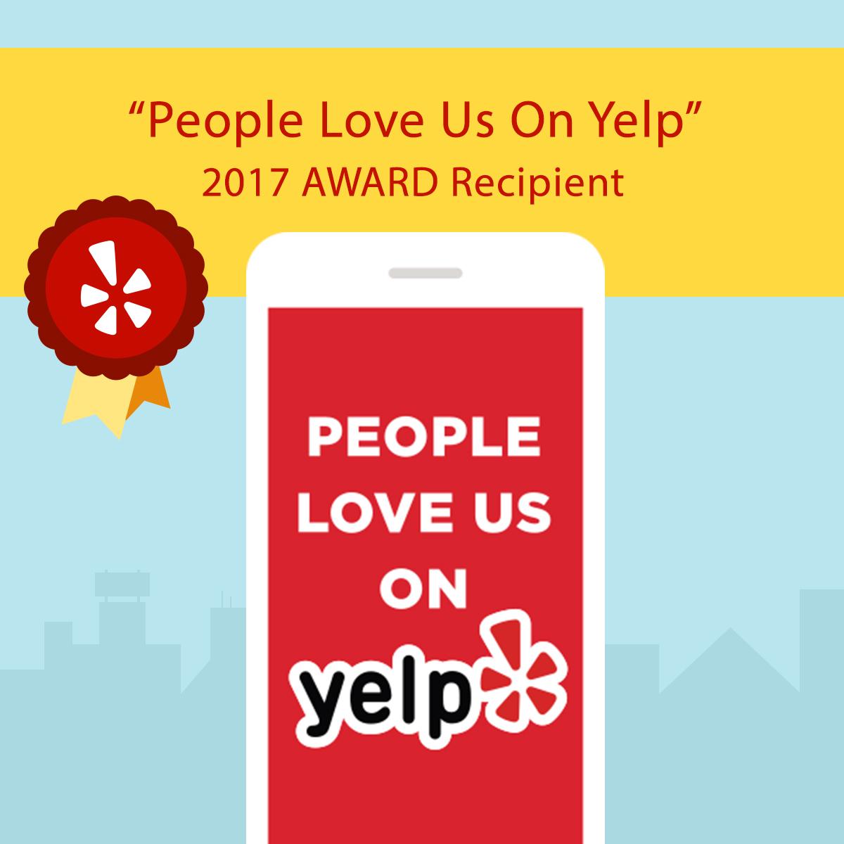 Winner 2017 YELP Award